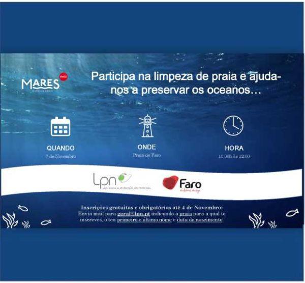 Ação de Limpeza da Praia de Faro