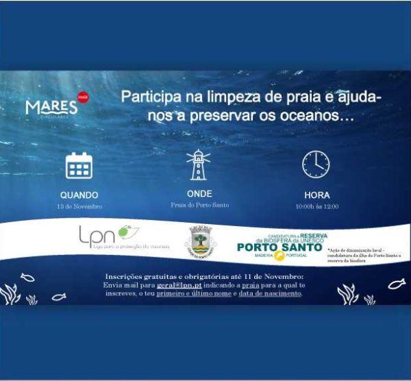 Ação de Limpeza da Praia do Porto Santo