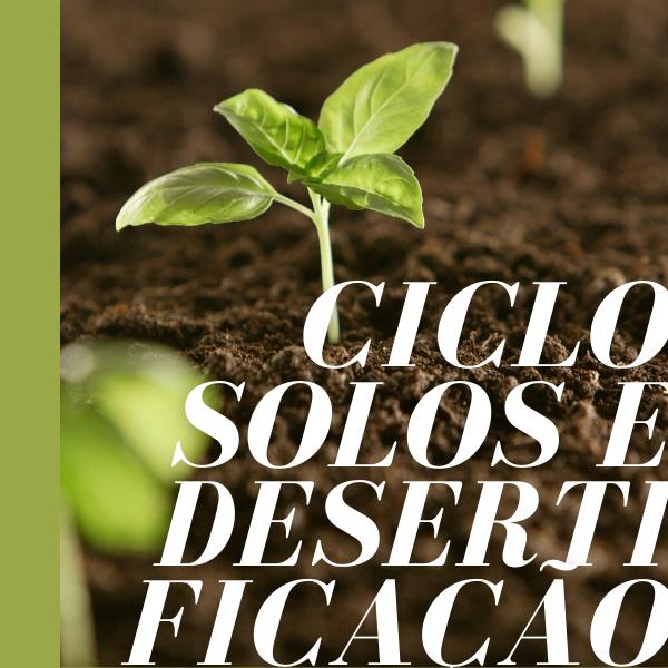 Sessão III – Degradação, Proteção, Remediação e Regeneração Dos Solos