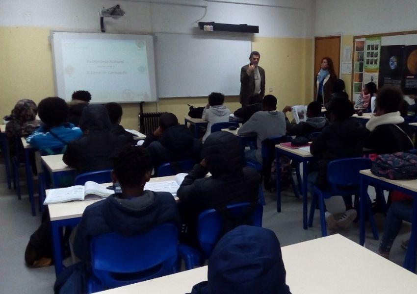 Aula sobre solos pelo Professor Eugénio Sequeira