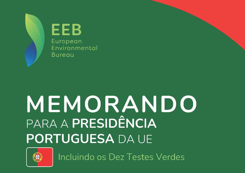 Memorando para a Presidência Portuguesa da União Europeia