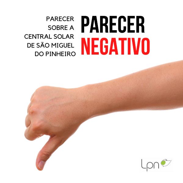 Parecer sobre a Central Solar de São Miguel do Pinheiro